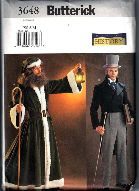 Butterick 3648 Making History Mens Dickens Costume Pattern