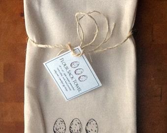 Speckled Eggs Flour Sack Towel