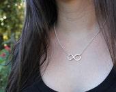 Infinity Symbol Necklace - handmade fine silver infinity symbol necklace