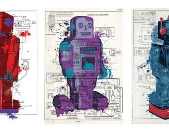 Toy Robot Print Trio