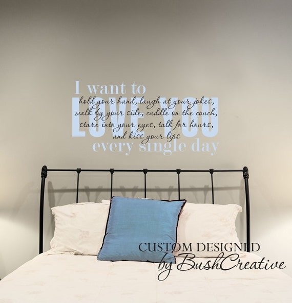 Items Similar To Wall Decal I Love You Master Bedroom Quote 087 44 On Etsy