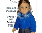 Pdf Knitting Pattern. Fits American Girl and all 18 inch dolls. Sweater. 041