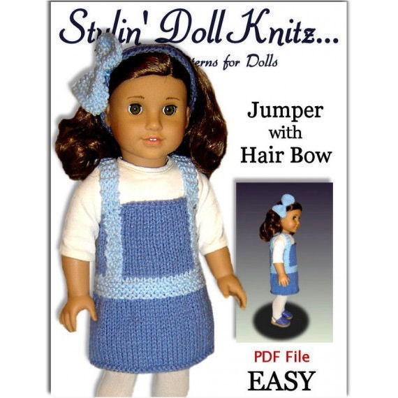 Knitting Patterns For Maplelea Dolls : Doll clothes knit Pattern fits American Girl and 18 inch