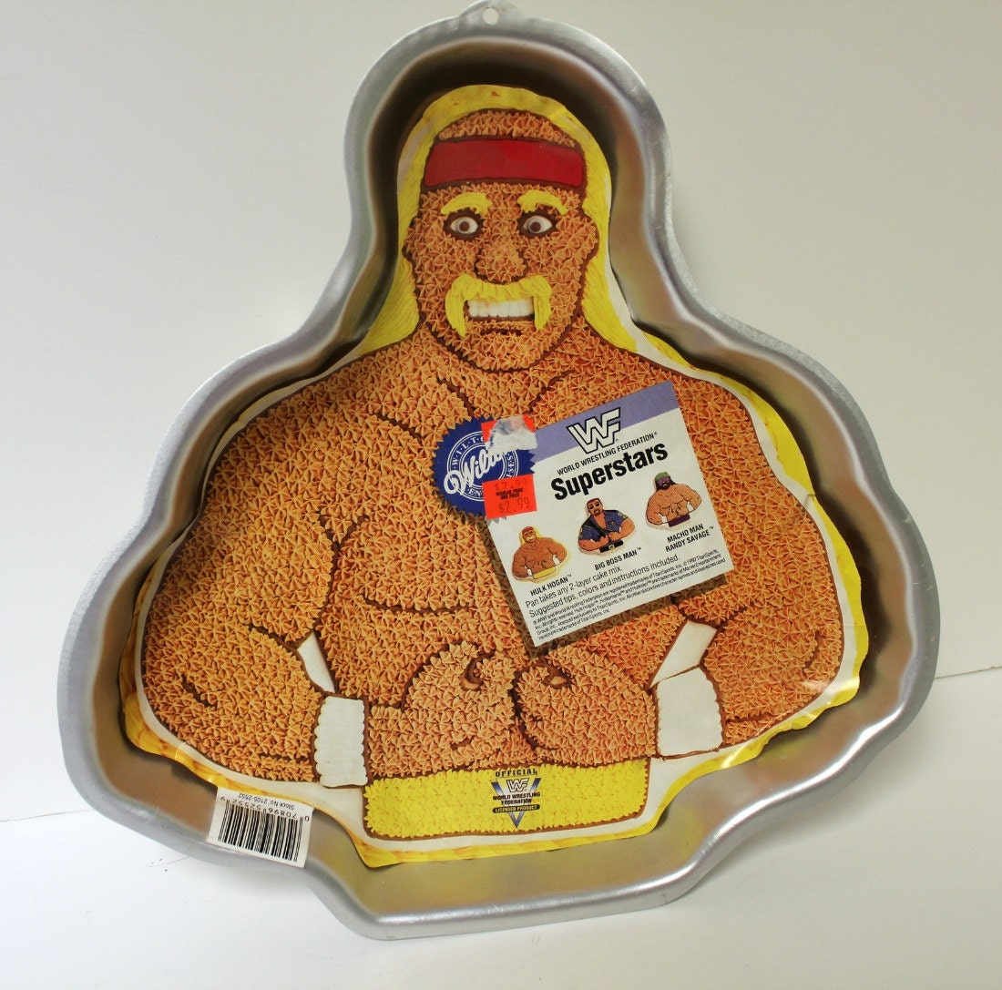 wilton hulk hogan cake pan mold wwf wrestling vintage s, Birthday card