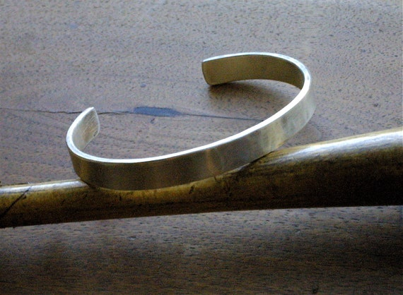 Simple Sterling Silver Cuff for Men - Cool, Clean and Customizable