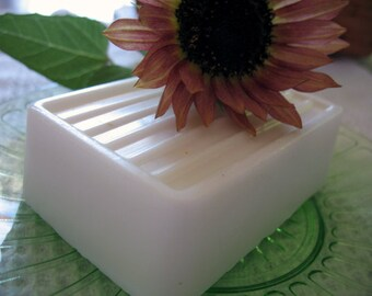 Gardenia Soap |Floral Soap | Butter Bar Soap | Large Bar Soap | Muslin Bag Gift Wrapped | Natural Soap | Palm Free Soap | Soy Free Soap