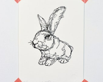 Rabbit - Letterpress Print