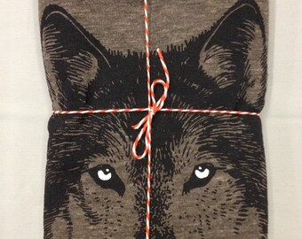 Wolf scarf, WOLF Scarves, mens scarf, womens scarf, dire wolf print on long scarf, gift for him, gift for her, gift for teen, teen wolf