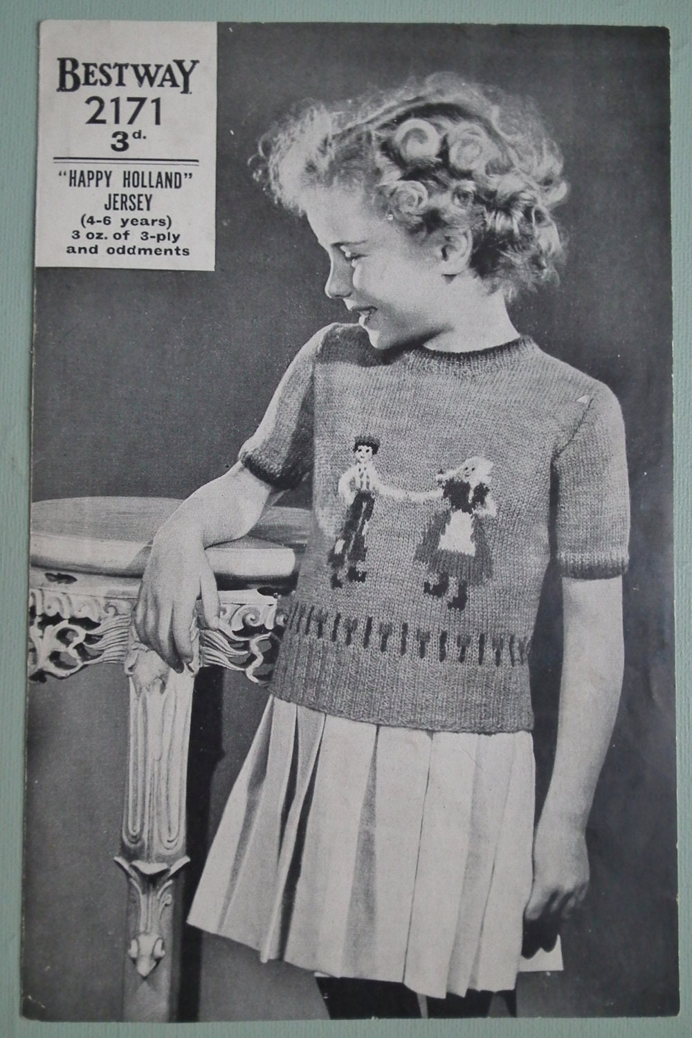 Vintage Knitting Pattern 1930s 1940s Childrens by sewmuchfrippery