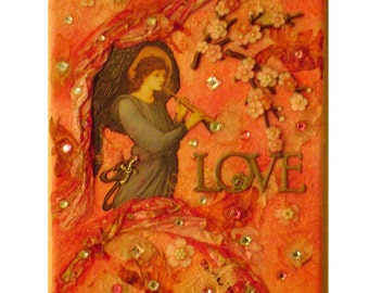 Angel Love Mixed Media Collage
