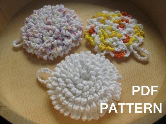 Crochet Nubby Stitch : Ultra Nubby Scrubby Tawashi Dishcloth Crochet by AwkwardSoul