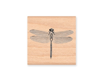 Dragonfly Rubber Stamp~Summer Time~Insect~Bug~Nature~wood mounted rubber stamp by Mountainside Crafts