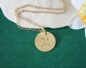 Gold Initial Charm, Large Initial Charm, Gold Charm, Mom Necklace, Initial Tag