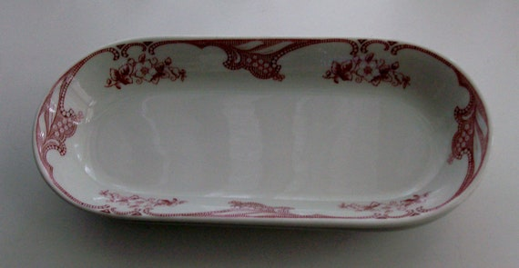 2 Large Restaurant Ware Oval Celery Dishes by Shenango