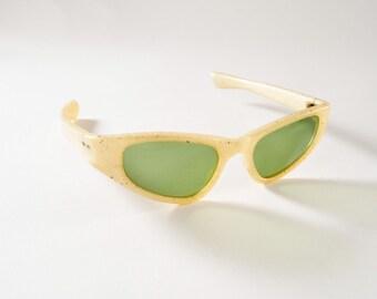 Vintage 1950s Cool Ray Polaroid Sunglasses, Cat Eye Creamy Pearl Sparkle Frames, Atomic Mid Century, Accessories, Sunglasses & Eyewear