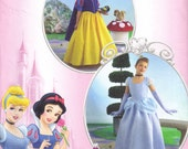 Disney Snow White, Cinderella Princess Halloween Costume Simplicity 2817 Sewing Pattern child Size 7, 8, 10, 12 Girls Cut