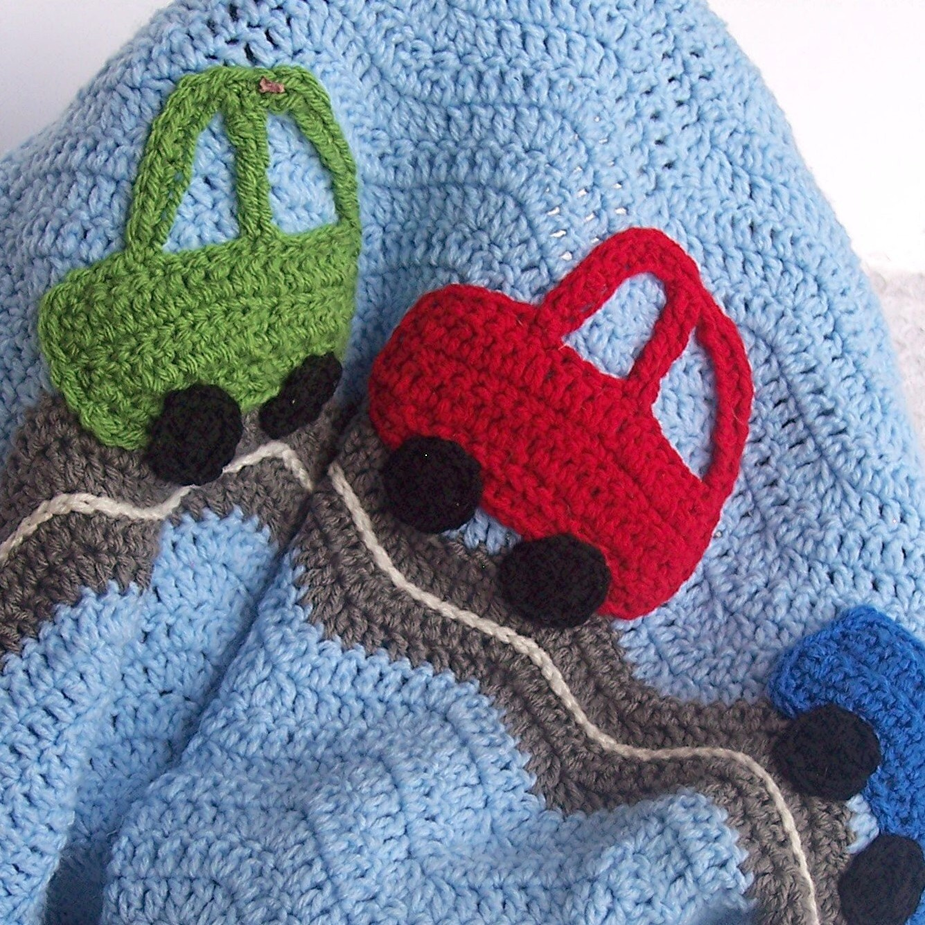 Cars Baby Blanket Crochet Baby Blanket Baby Boy by puddintoes