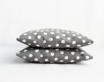 Botanical Sachets filled with Fragrant Herbs - Scented Drawer Sachets - Gray and White Polka Dots