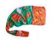 Silk Scarf Orange Umbrellas silk shawl Hand painted silk scarf Green orange scarf Bright Summer scarf Bold shawl silk Painting by Klara