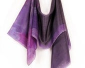 Purple silk scarf.Hand painted silk scarf.Abstract composition on silk paint by Dimo.OOAK - klaradar