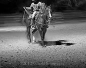 Rodeo Cowboy Western Art Photography Black and White Horse Ranch Prairie Style Home Decor Texas Moments in Time