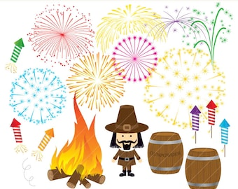 Bonfire Night clipart set digital download CA024