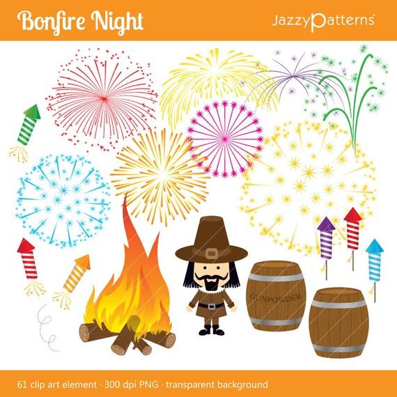 First Night Clip Art : Bonfire night clipart set digital download ca