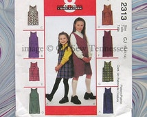 Girls' Jumpers - McCalls 2313 - Out-of-Print Sewing Pattern, Girls sizes 12 and 14