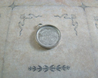 One Dozen (12) Double Sided 15mm Pewter Pendants, One Dozen Pendants, 15mm Pendants, Make The Perfect Pendant - Made in the USA