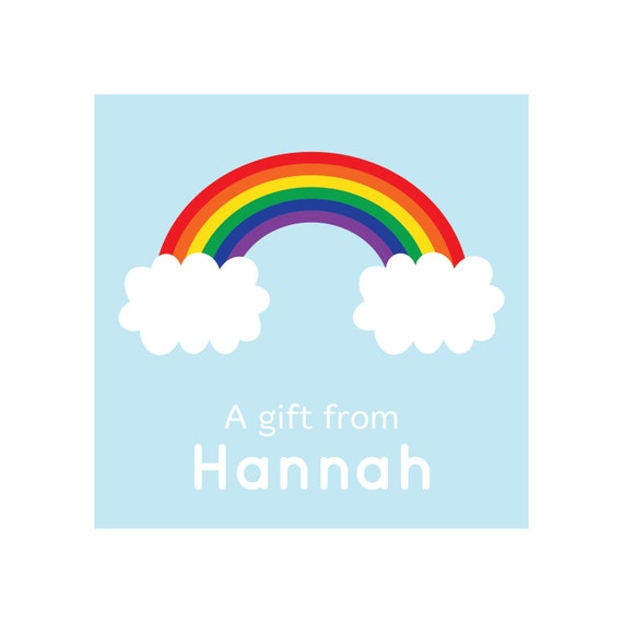 Personalized Rainbow Gift Stickers or Tags