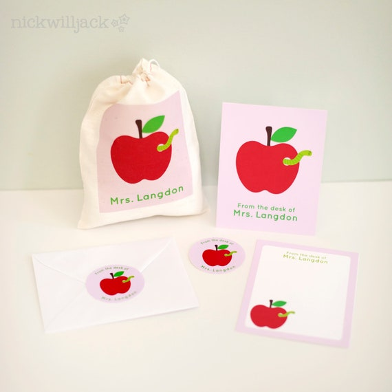 Personalized Teacher's Stationery Gift Set