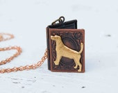 Good DOG Book Locket Necklace Pet Rescue Dog Labrador Retriever Golden Retriever