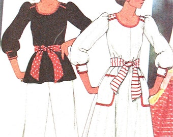 Vintage 1970s  McCalls 5506 sewing pattern for dress or jumper, top and pants  Bust 36 inches
