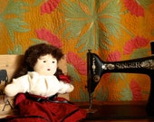 Hand Sewn Child Friendly Waldorf Doll with Brown Braids