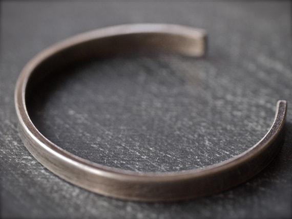 Sterling silver cuff bracelet - simple, modern and chic sterling silver cuff bracelet