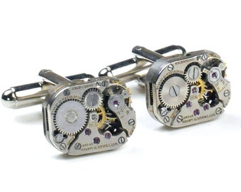 Vintage Wittnauer Watch Movement Steampunk Cuff Links