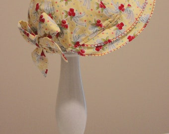 Easter Sew Vintage Flouncy Hat Pattern, Sizes 3 months - 24 Months, Sun Bonnet, Christening Hat,