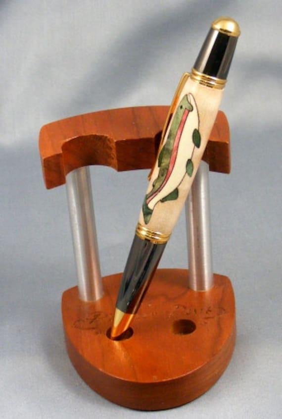 Rainbow Trout Inlay Twist Pen
