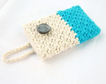 Crochet Phone Case, Cotton Phone Case, Phone Cover,cell phone cover, cell phone case, buttoned case