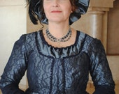 CUSTOM Regency Jane Austen Hat Muffin Cap hairpiece Ball headpiece