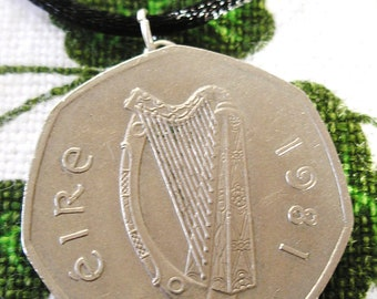 50 Pence AUTHENTIC  IRISH 1981 Irish Birth Year Necklace-Irish Necklace