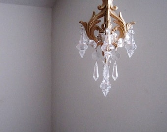 Car Chandelier In Antique Gold Leaf MADE TO ORDER