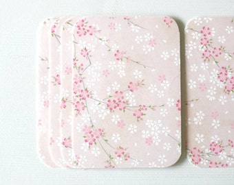 Pink Blossoms Chiyogami Note Card Set . Save The Date Cards . Invitations . Greeting Cards . no.81