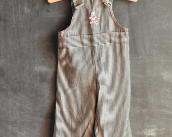 Vintage 1970s Railroad Bell Bottom Overalls