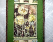 Fairy Mini Quilt Bedroom Decor Handmade Cicely Mary Barker's Jack Go To Bed at Noon Flower Boy Fairies