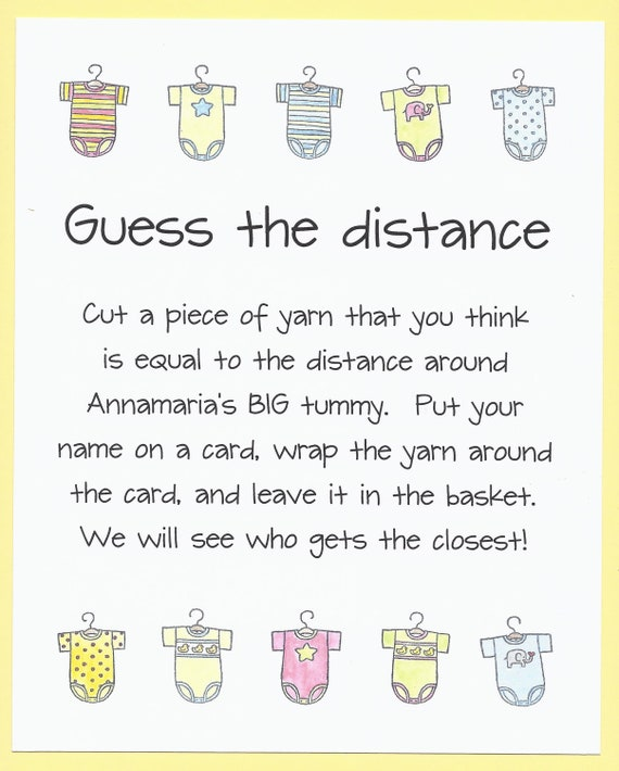baby shower game guess the distance measure mom 39 s tummy