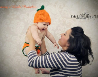 Pumpkin Patch Outfit - Baby Halloween Costume - 1st Halloween Outfit - Baby Pumpkin Costume - Newborn Halloween Costume - Pumpkin Hat