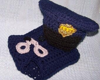 Popular items for crochet police hat on Etsy
