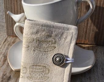 Steampunk Teacup Lineup Tea Wallet