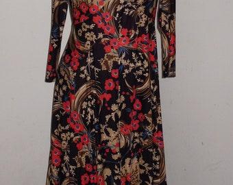 Vintage 1960s Hippie Dress~Festival Dress ~Misses Medium~